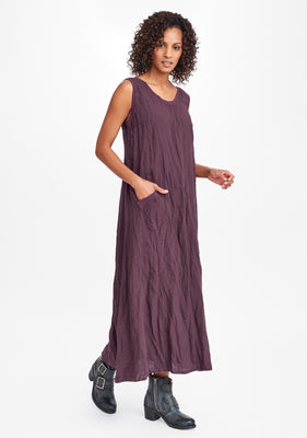 serene dress purple