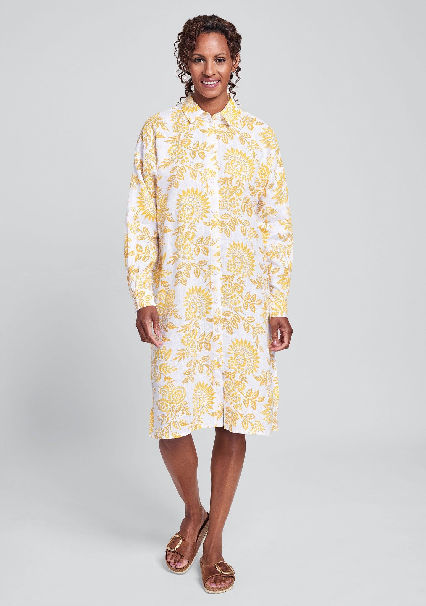 shirtdress linen shirt dress yellow