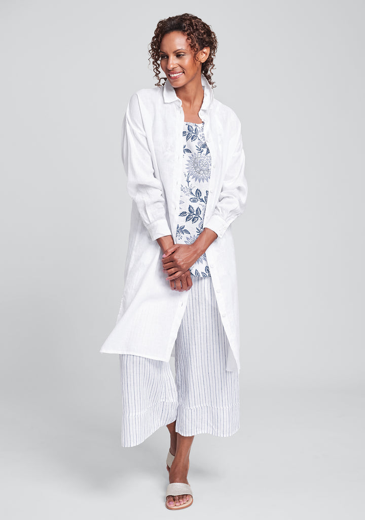 shirtdress linen shirt dress white
