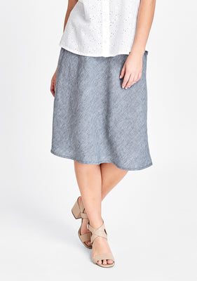 short line skirt blue