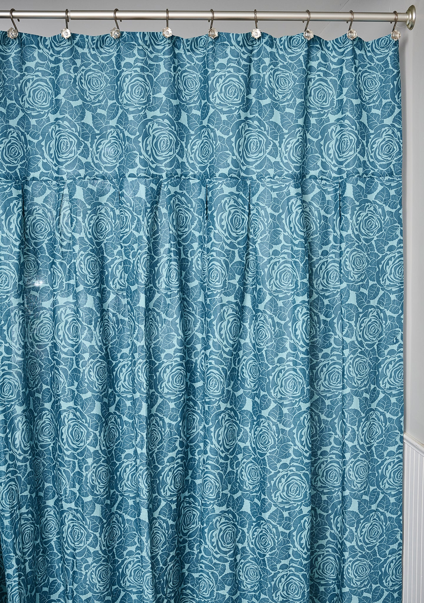 shower curtain linen shower curtain blue