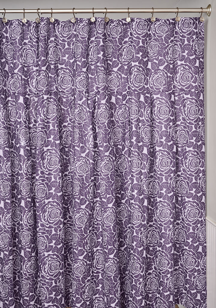 shower curtain linen shower curtain purple