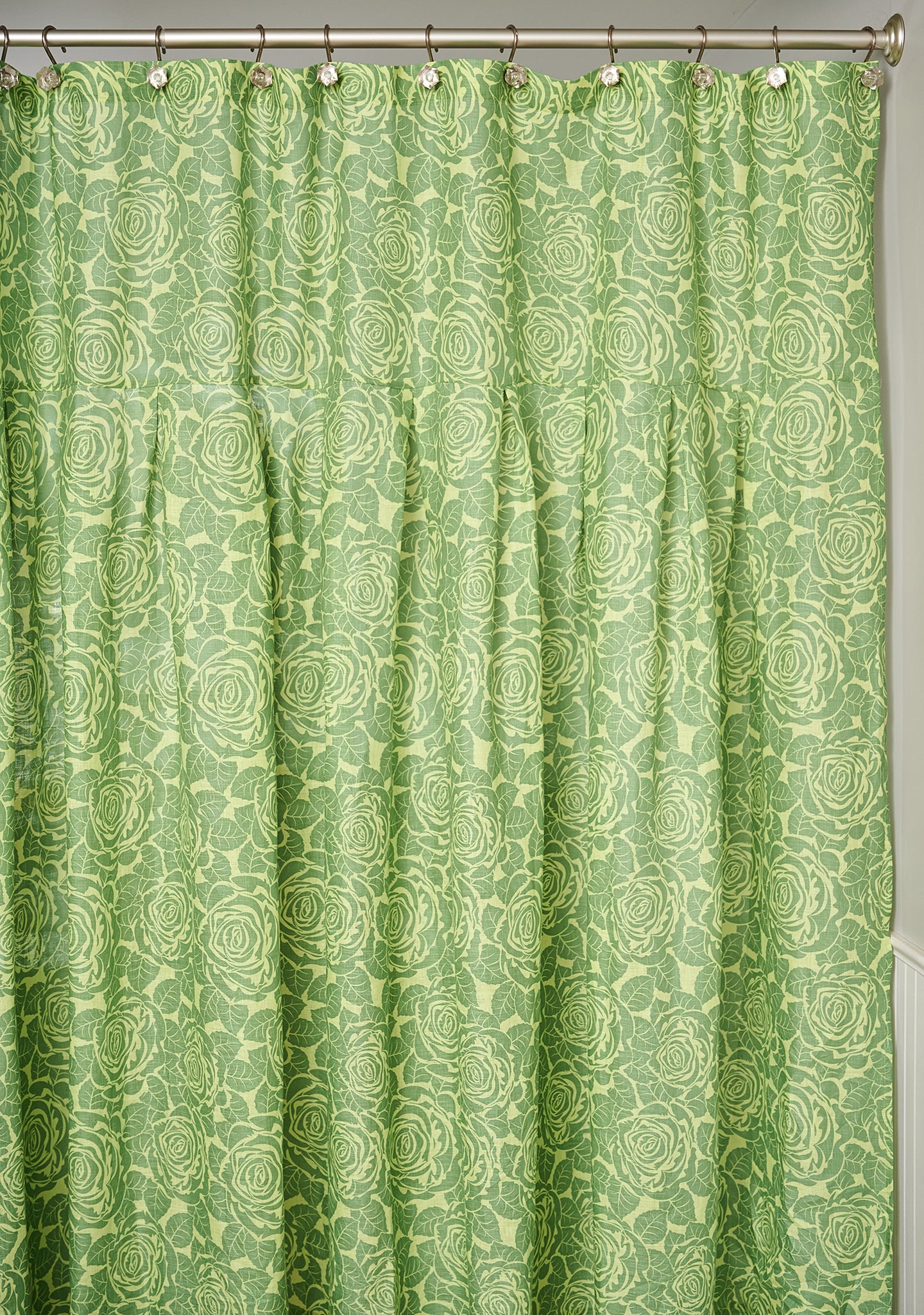 shower curtain linen shower curtain green