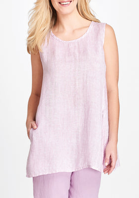 side pocket tunic purple