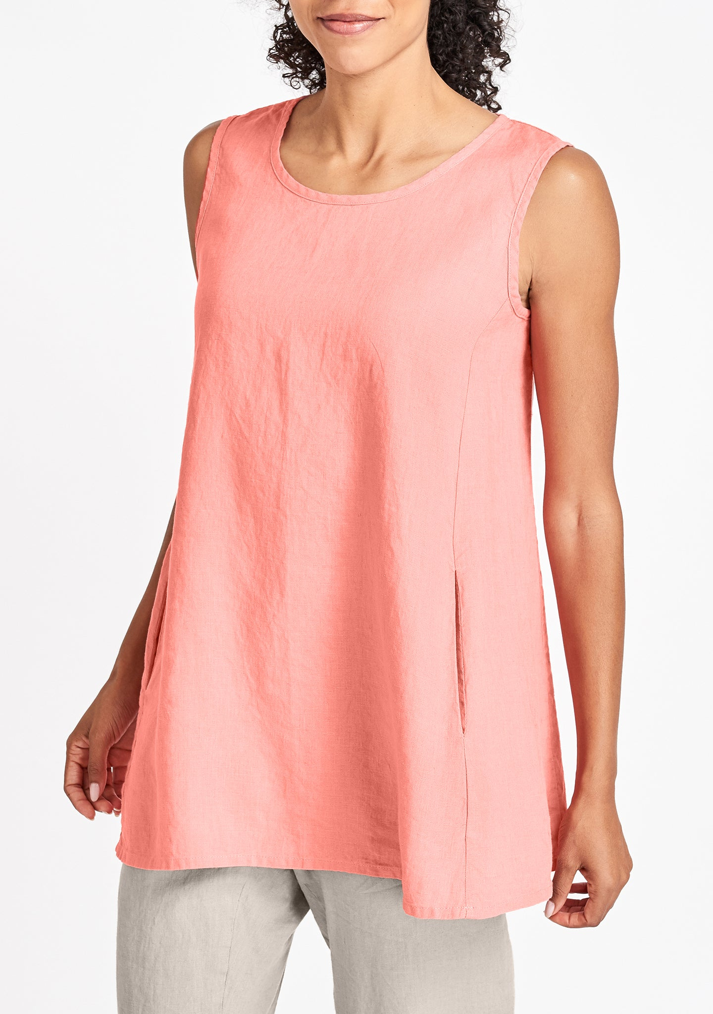 side pocket tunic pink