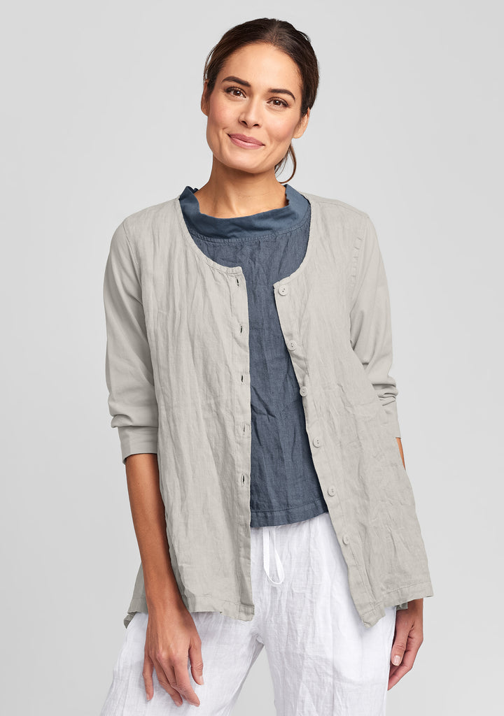 side street cardigan linen cardigan natural