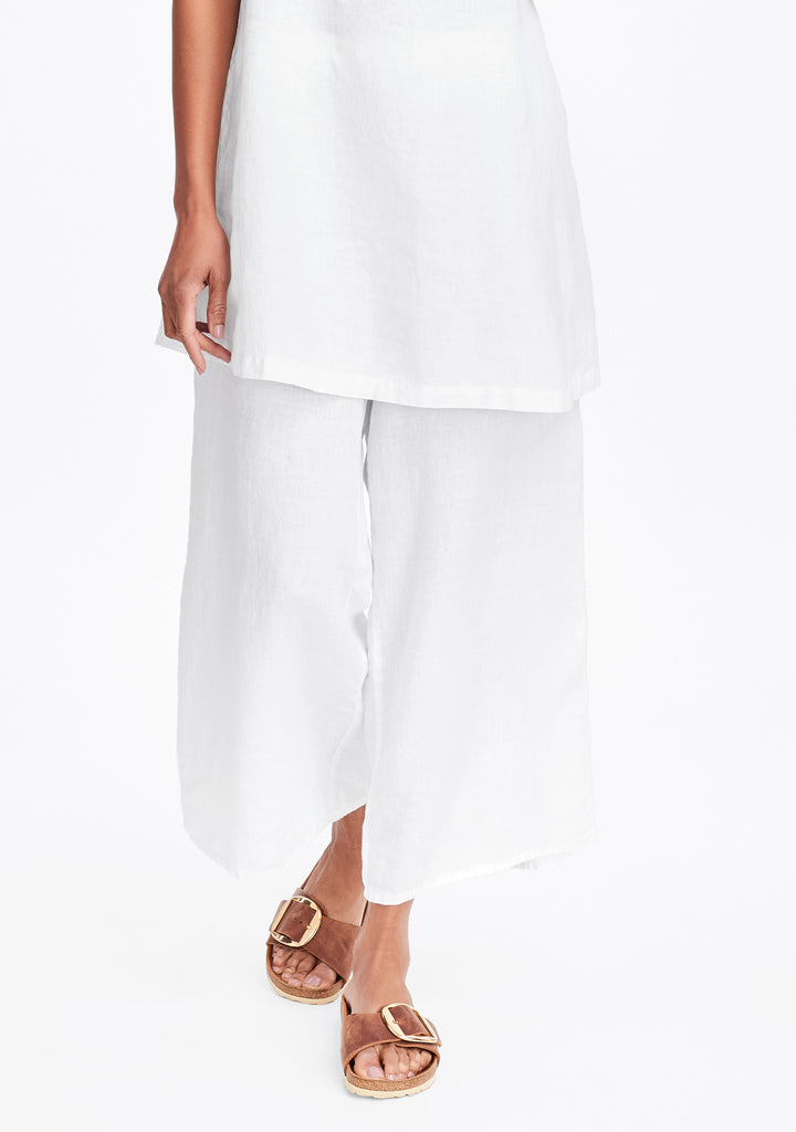 Sociable Flood Wide Leg Linen Pants Flax