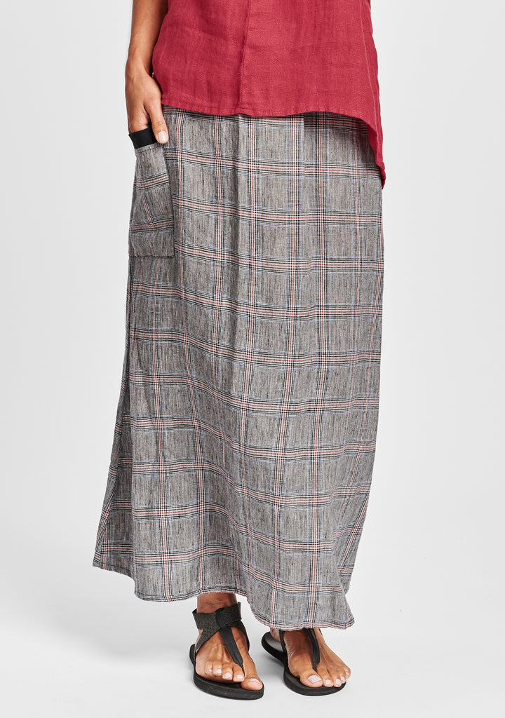 south side skirt linen maxi skirt multi
