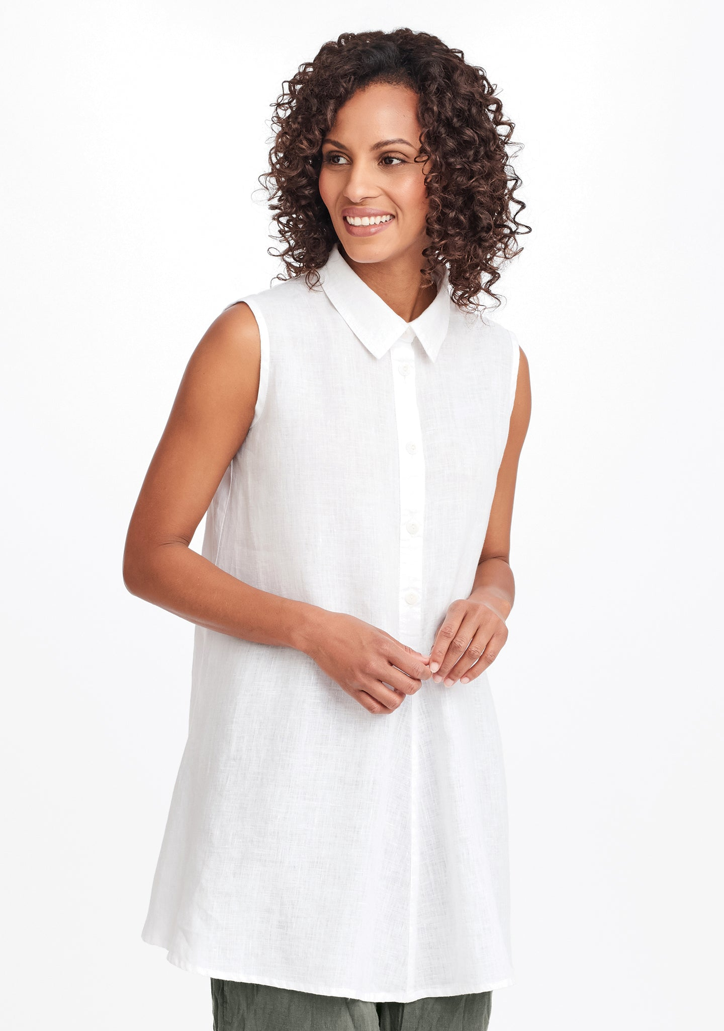 speakeasy sleeveless white