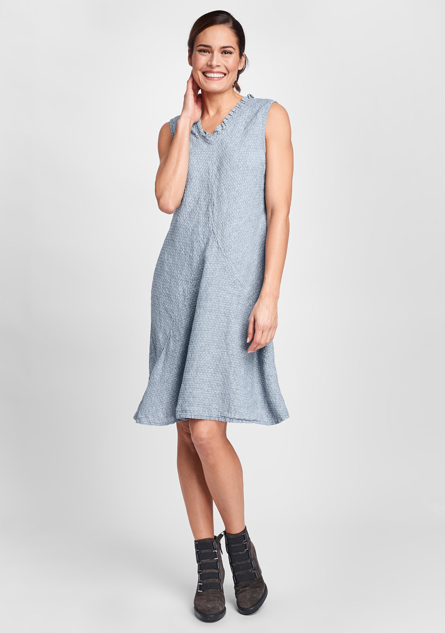 special dress linen shift dress blue