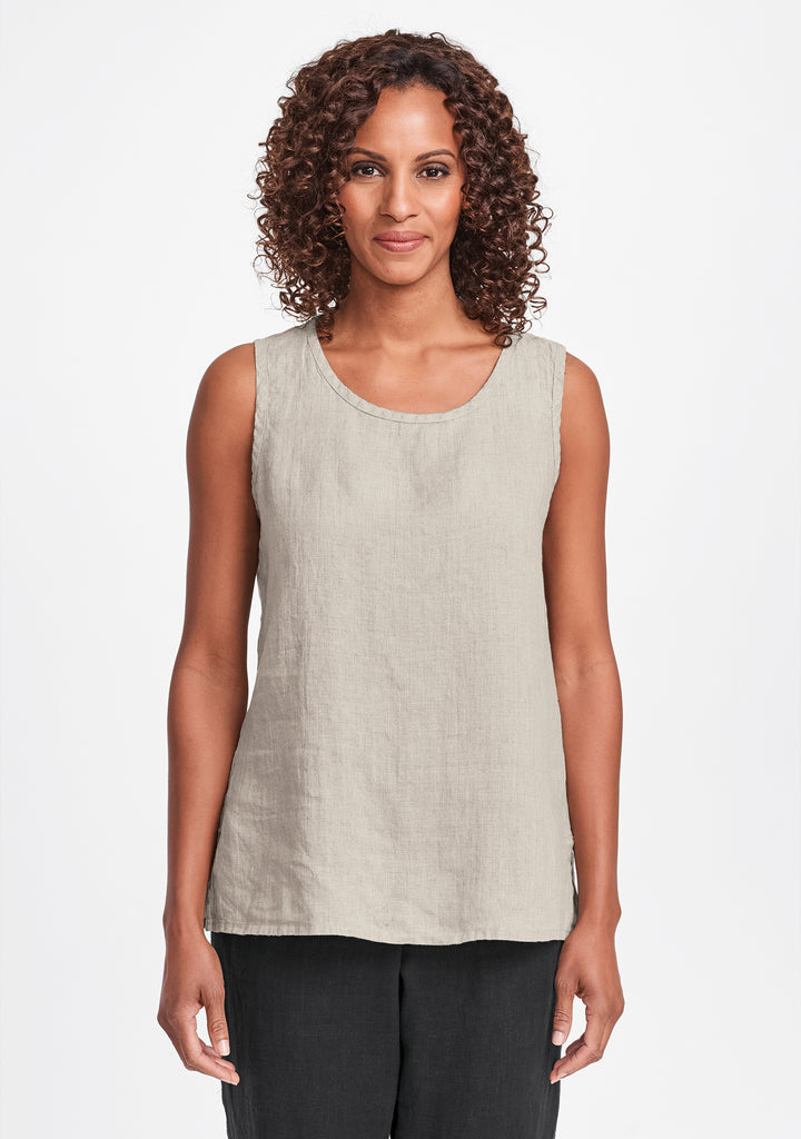 sunny tank linen tank top natural