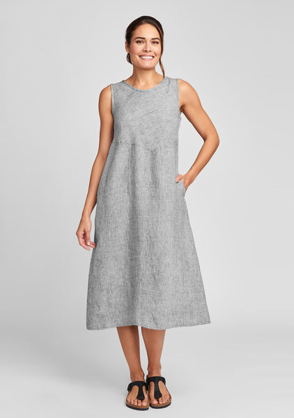sunrise dress linen midi dress grey