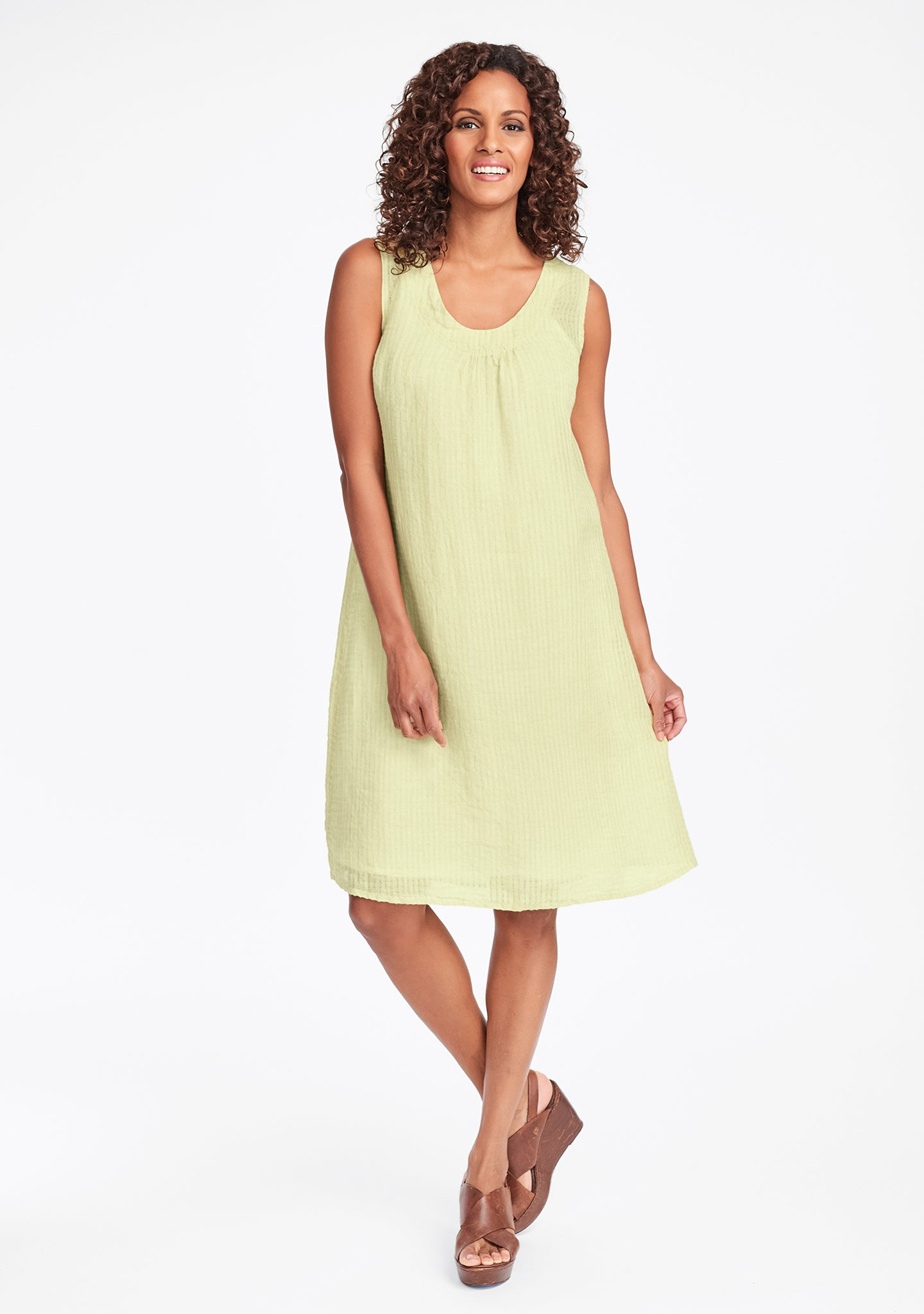 tao dress linen shift dress yellow