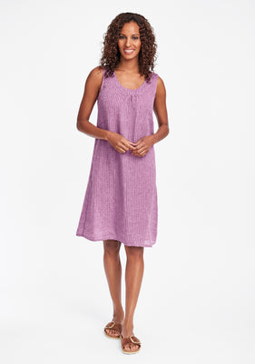 tao dress linen shift dress purple