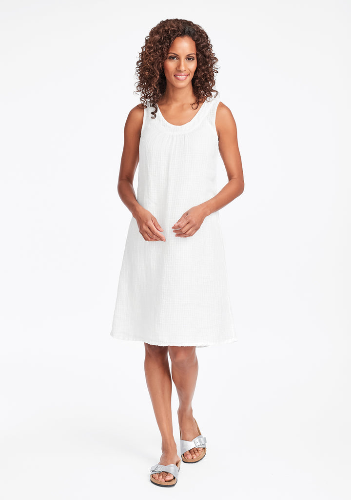 tao dress linen shift dress white