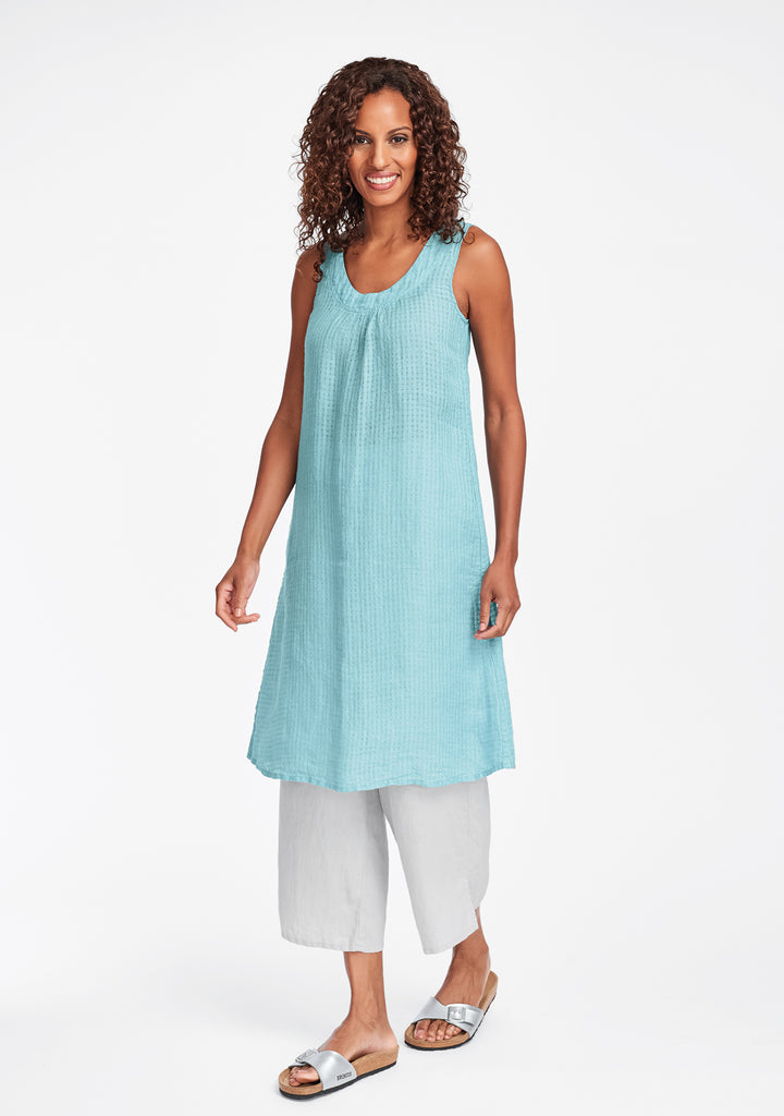 tao dress linen shift dress blue