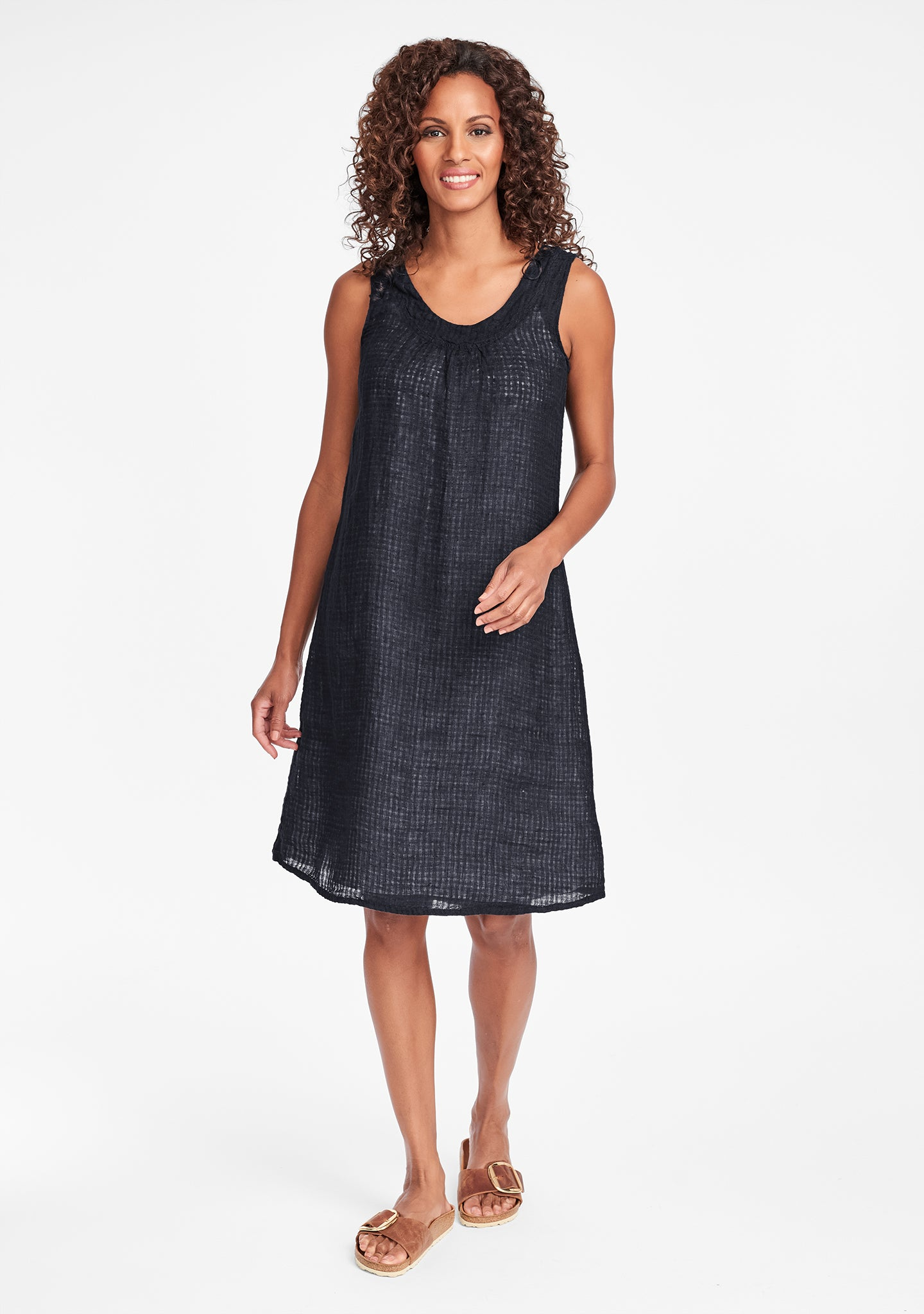 tao dress linen shift dress black