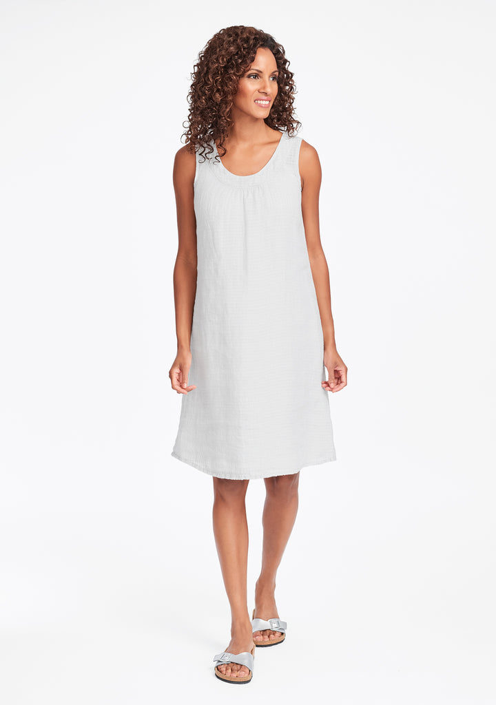 tao dress linen shift dress grey