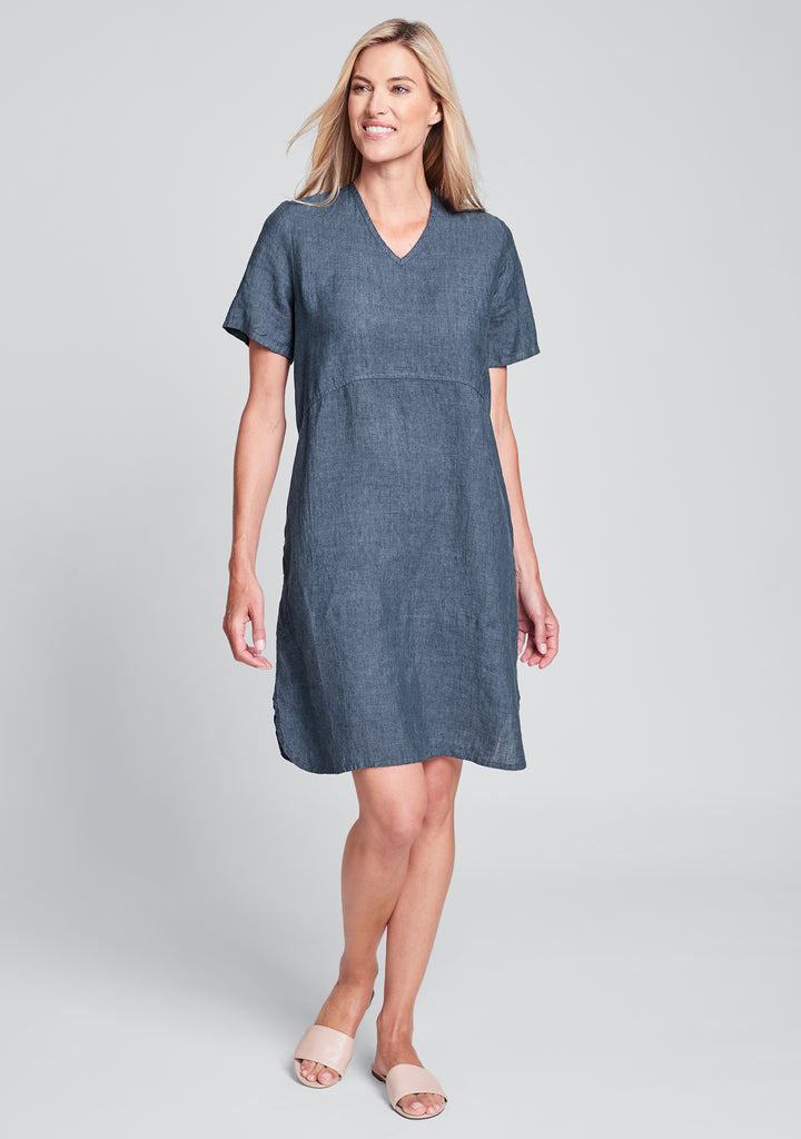 tee shirt dress linen dress blue