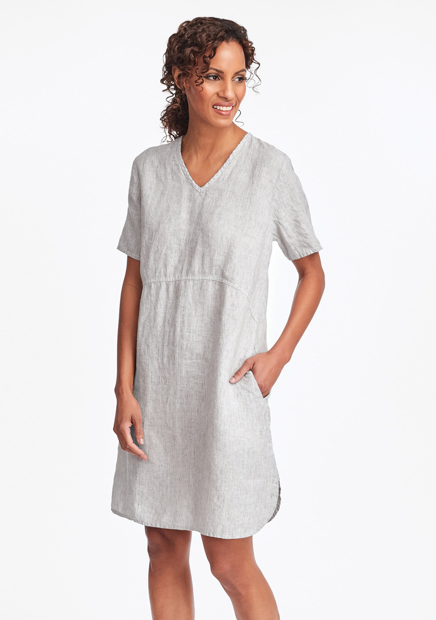 tee shirt dress linen summer dress grey