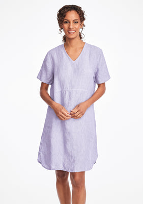 tee shirt dress linen summer dress purple