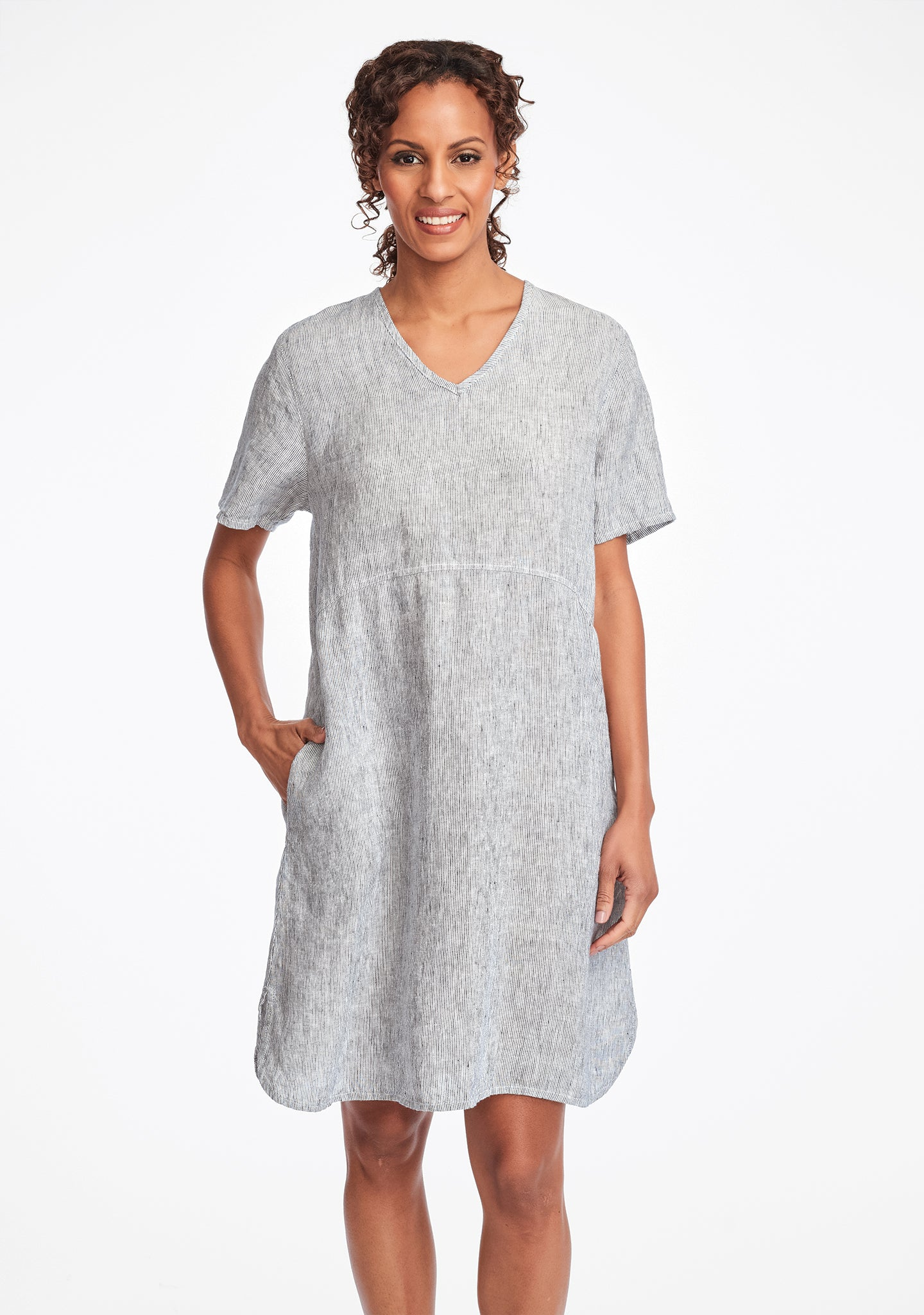 tee shirt dress linen summer dress blue