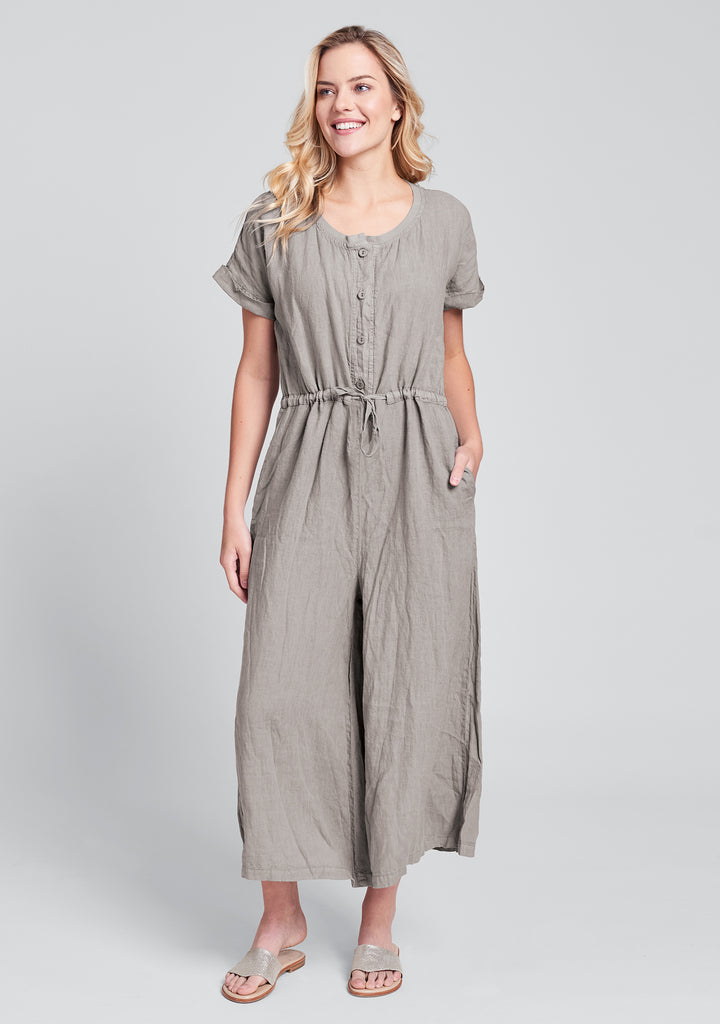 tee top jumper linen jumpsuit natural