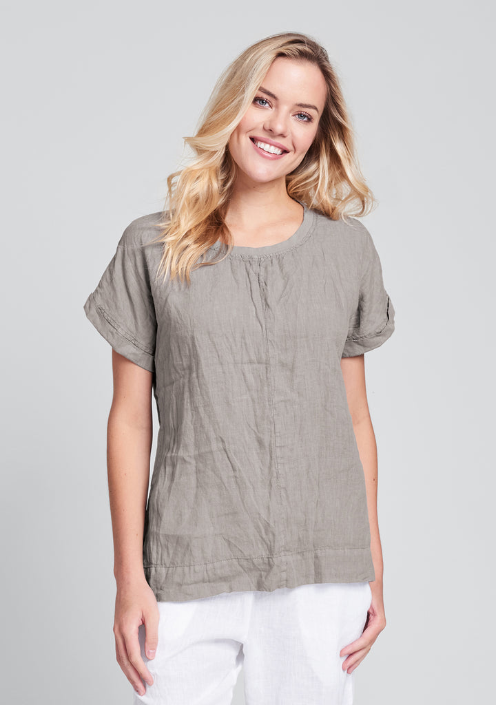 tee top linen t shirt natural