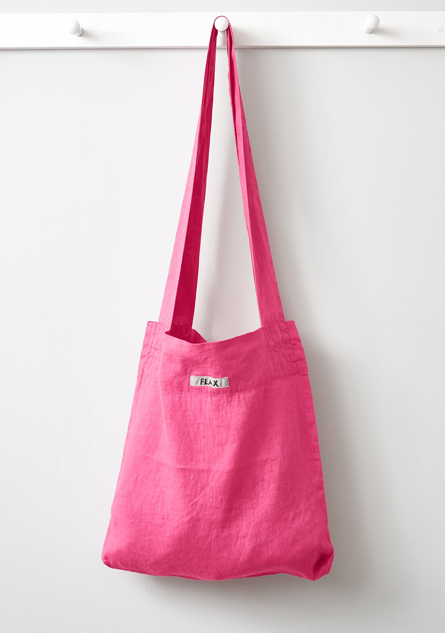 the bag linen shopping bag pink