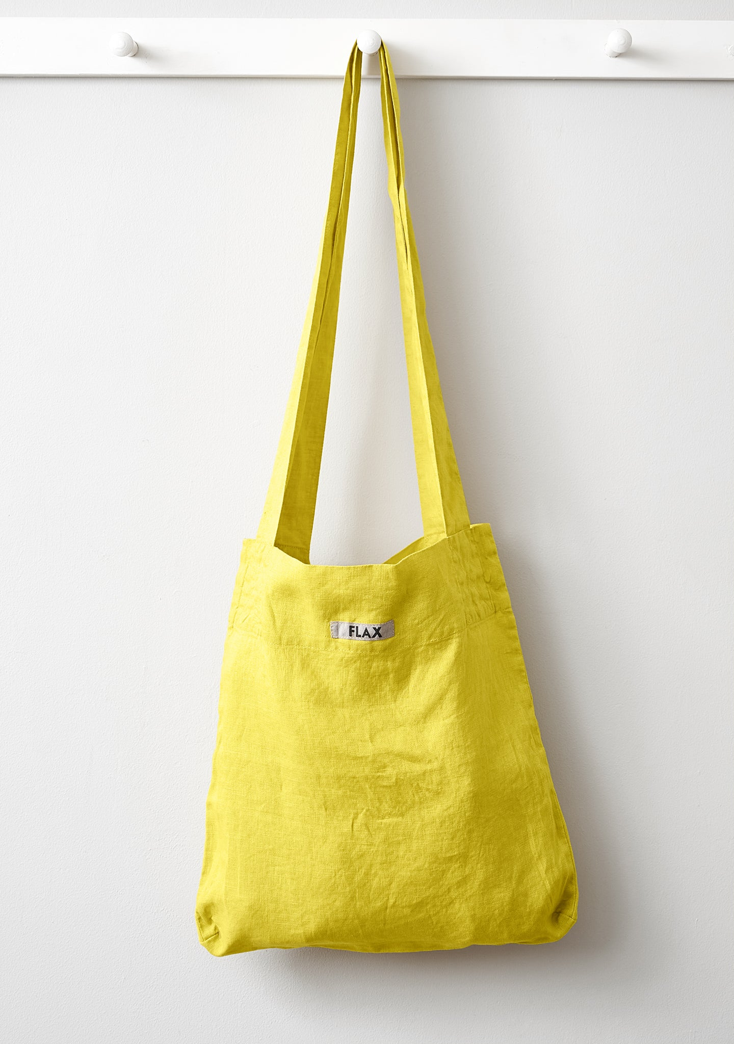 the bag linen shopping bag yellow