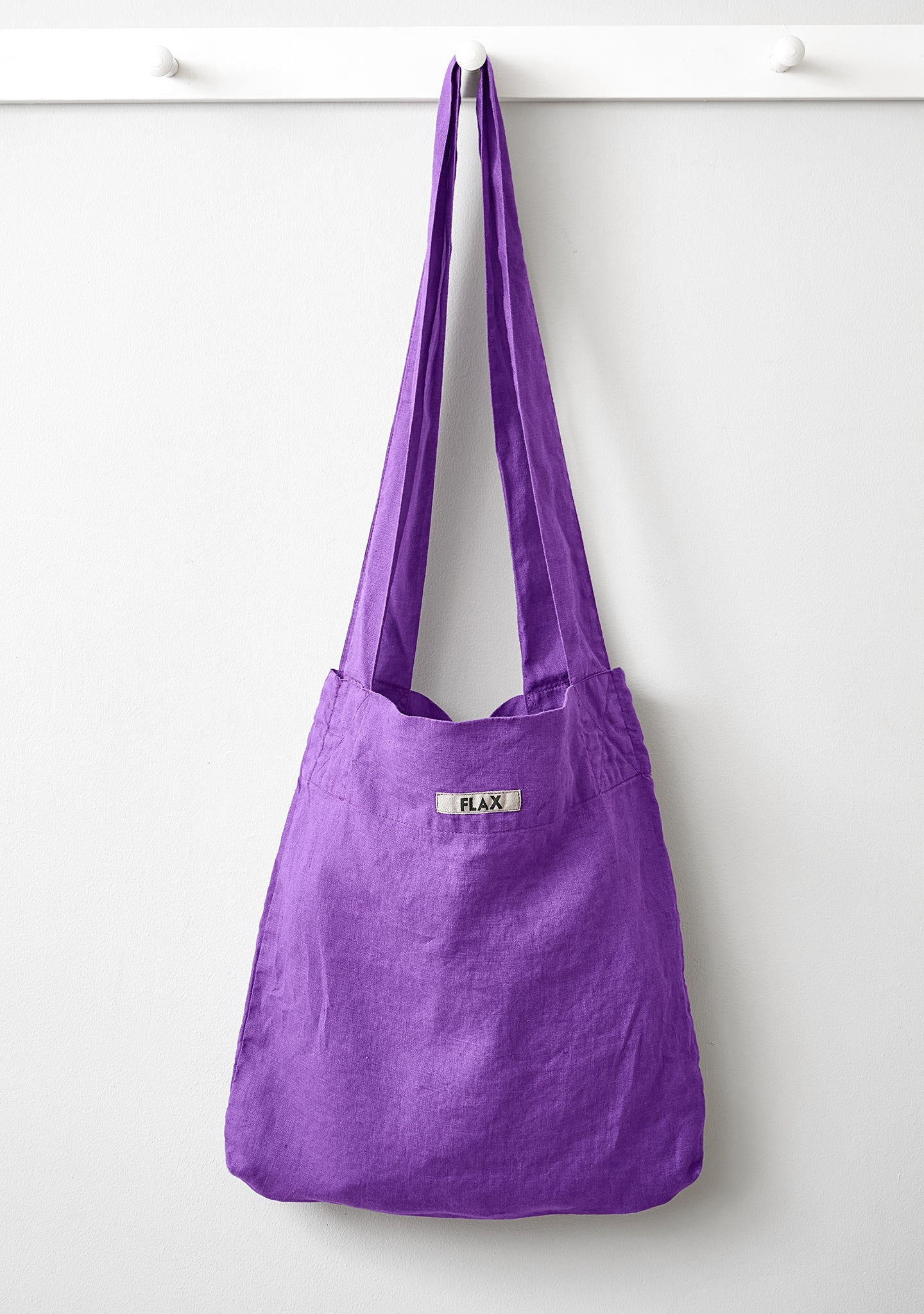 the bag linen shopping bag purple