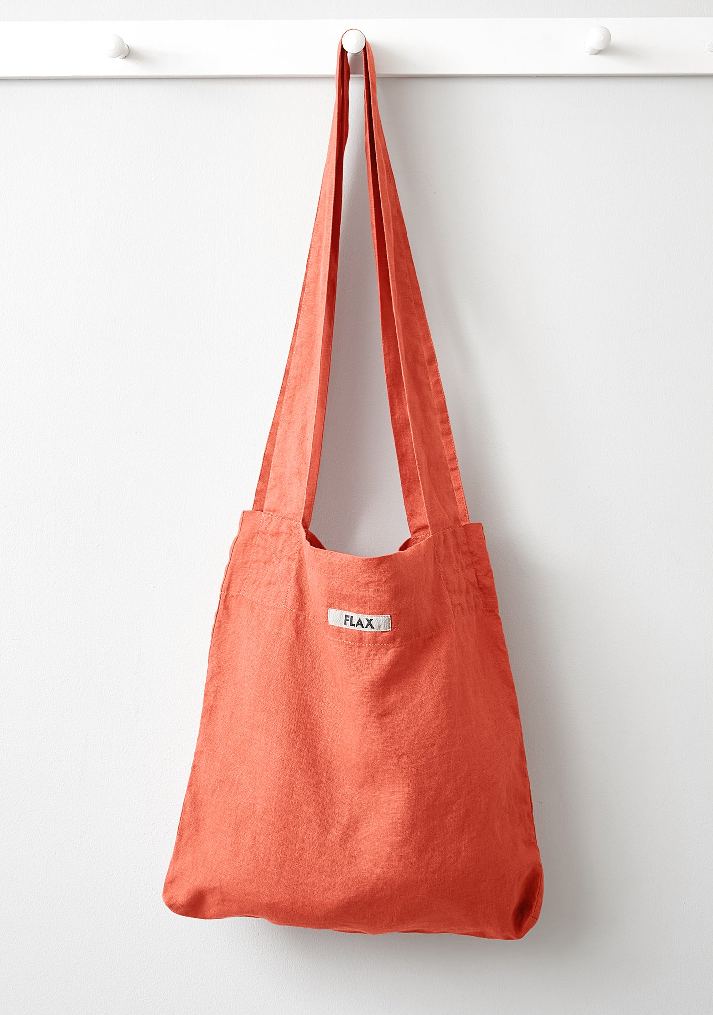 the bag linen shopping bag orange