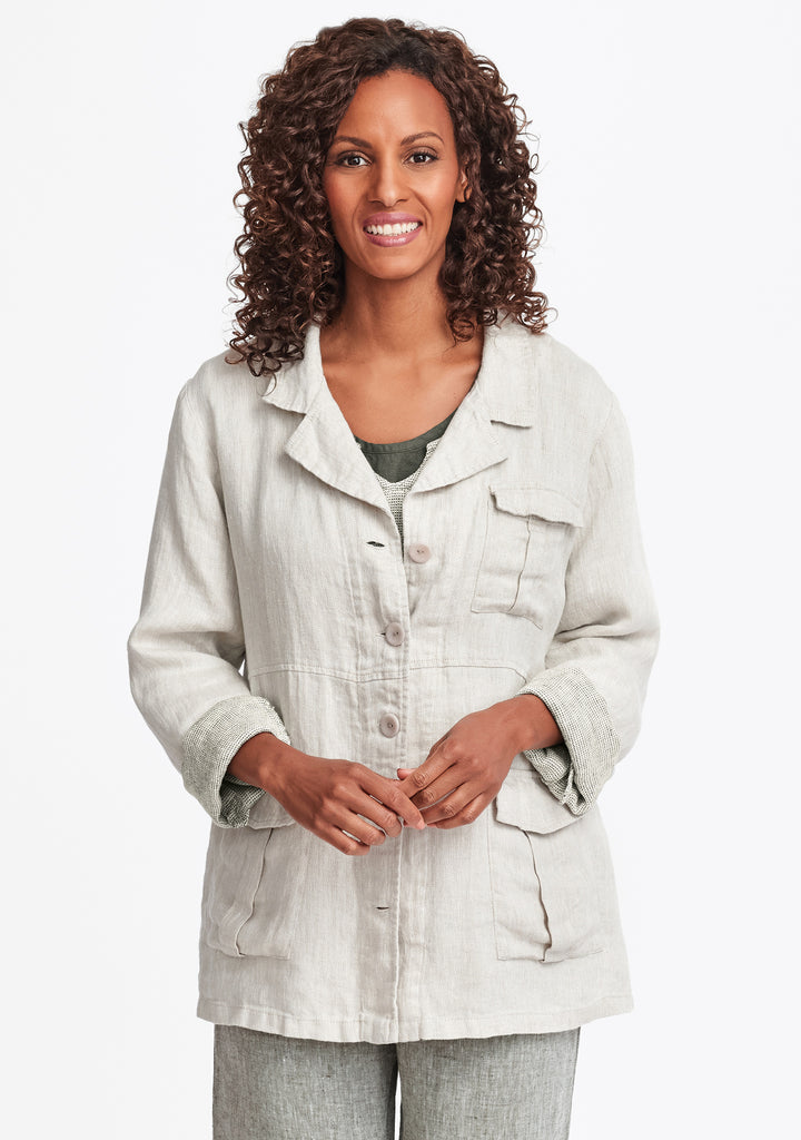 the safari linen jacket natural