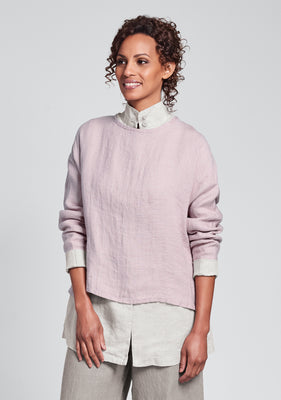 throw it on long sleeve linen shirt pink