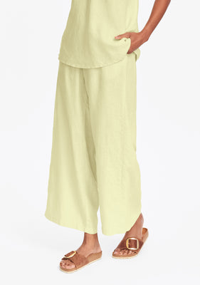 tigerlily pant wide leg linen pants yellow