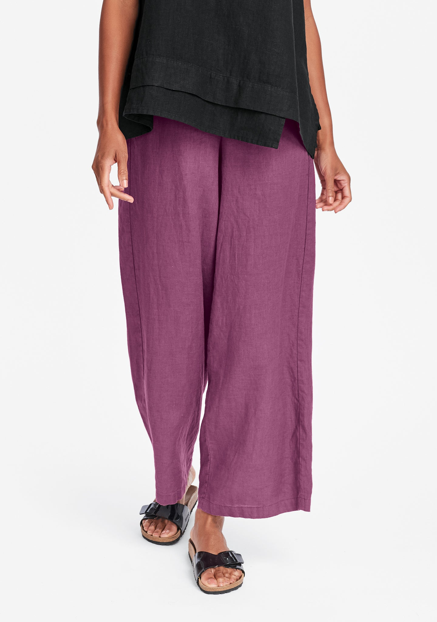tigerlily pant wide leg linen pants purple
