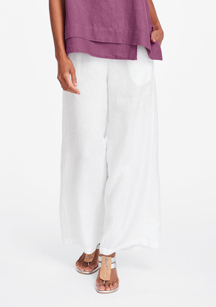 tigerlily pant wide leg linen pants white