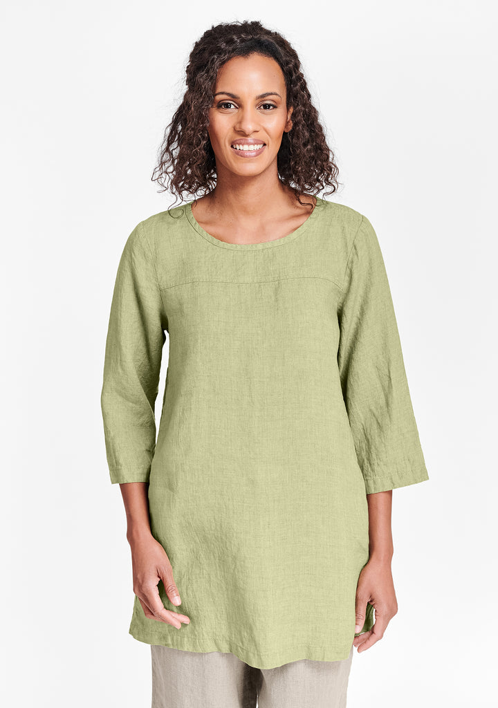 top seam tunic green
