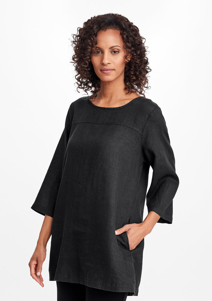 top seam tunic black