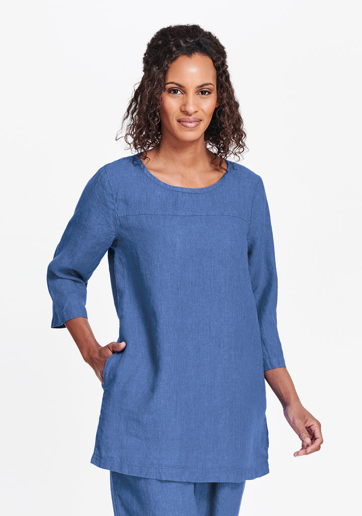 top seam tunic blue