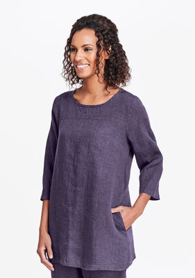 top seam tunic purple