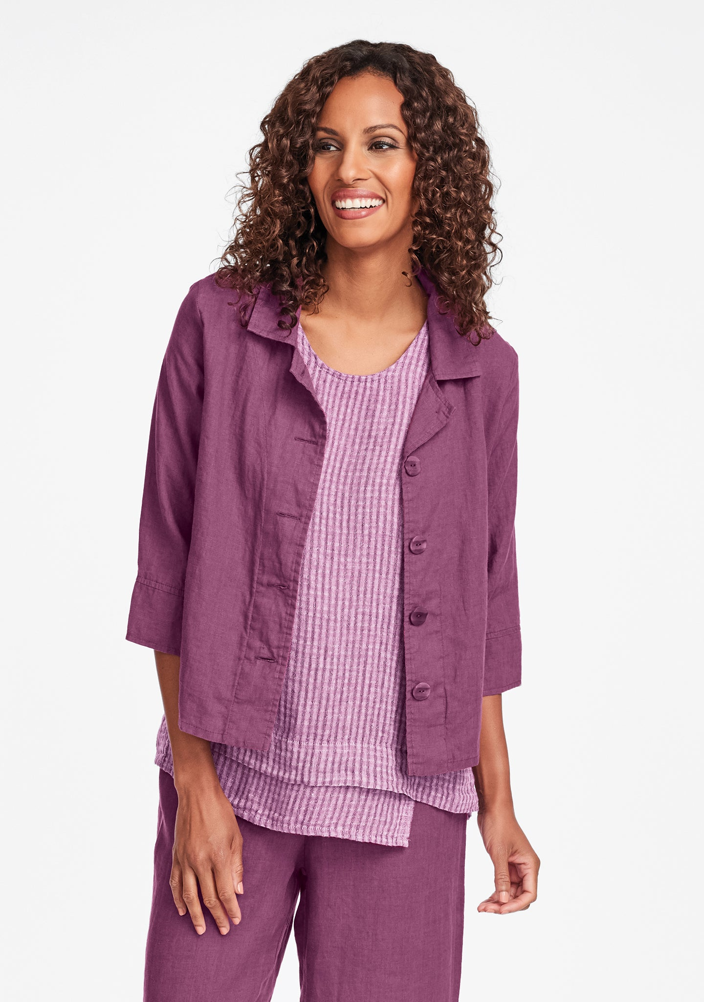 tour jacket linen jacket purple