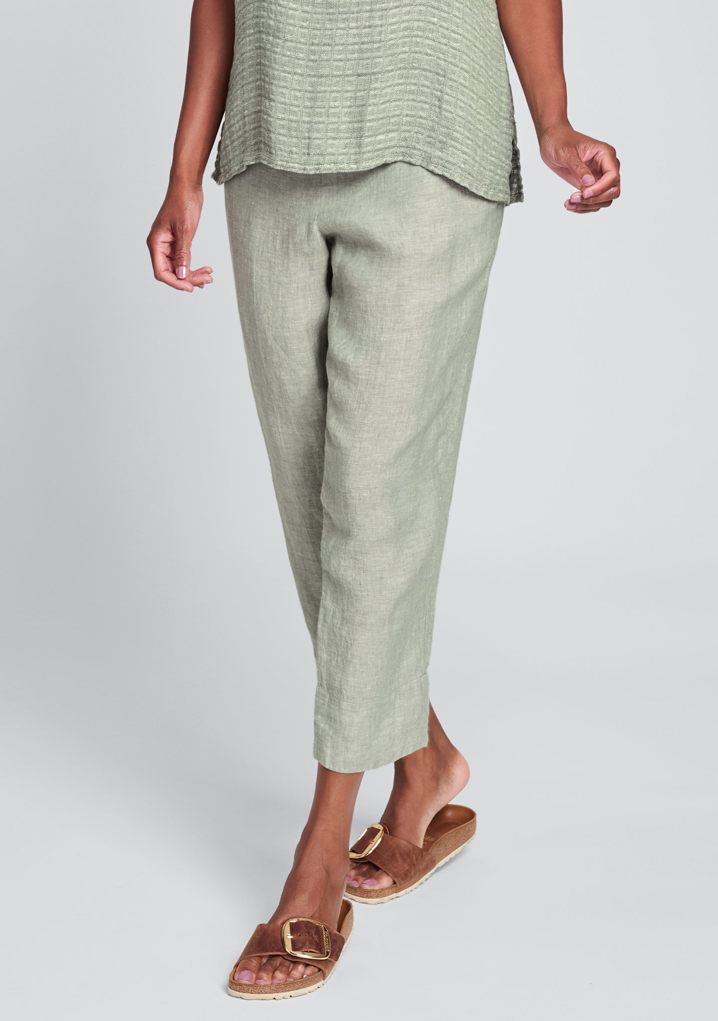 travel pant linen pants green