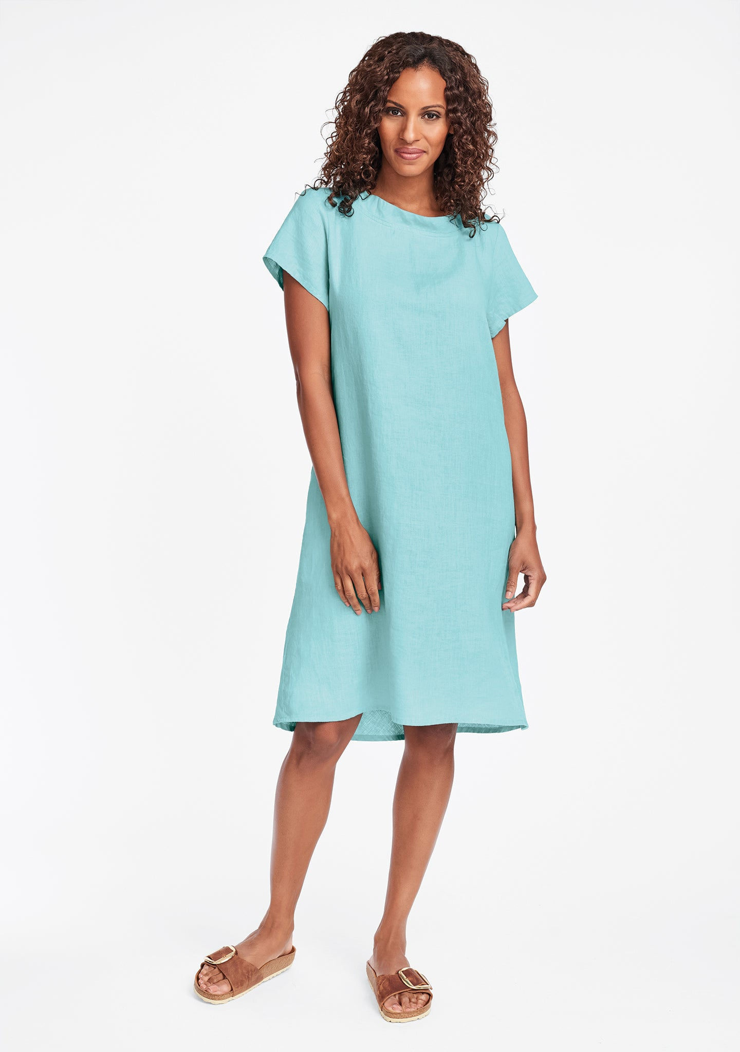 truly dreamy dress linen shift dress blue