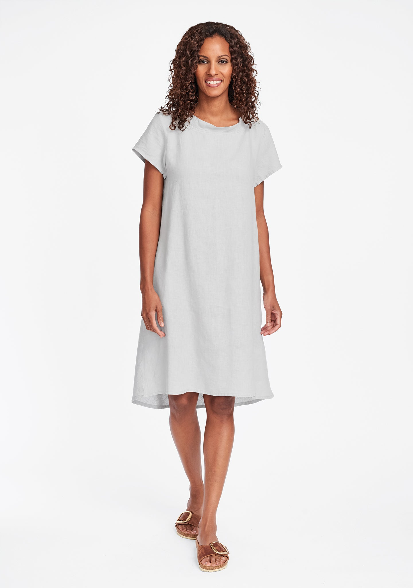 truly dreamy dress linen shift dress grey