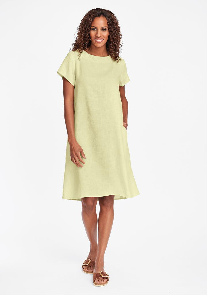 truly dreamy dress linen shift dress yellow