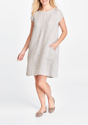tuck back dress natural