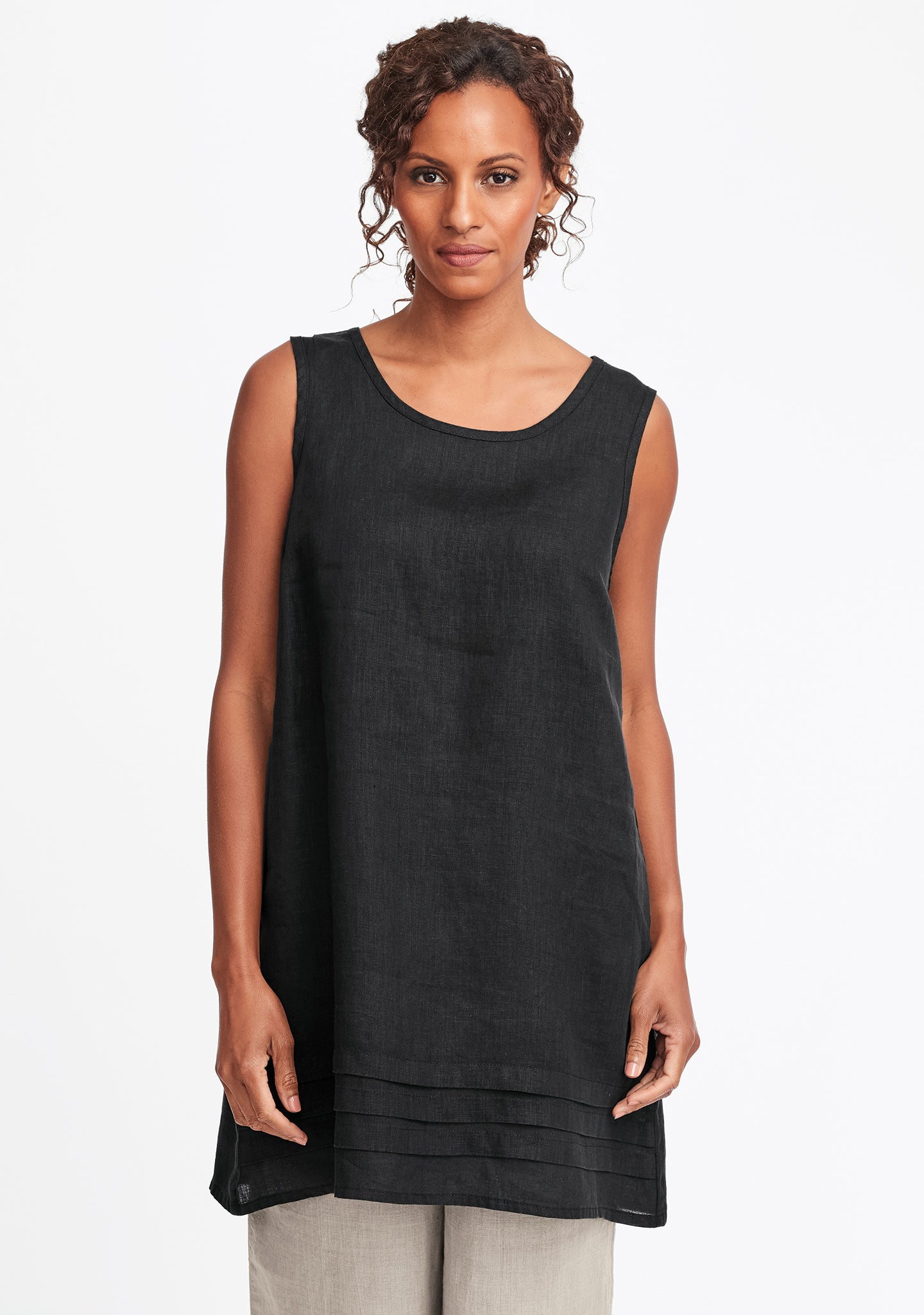 tuck tunic black