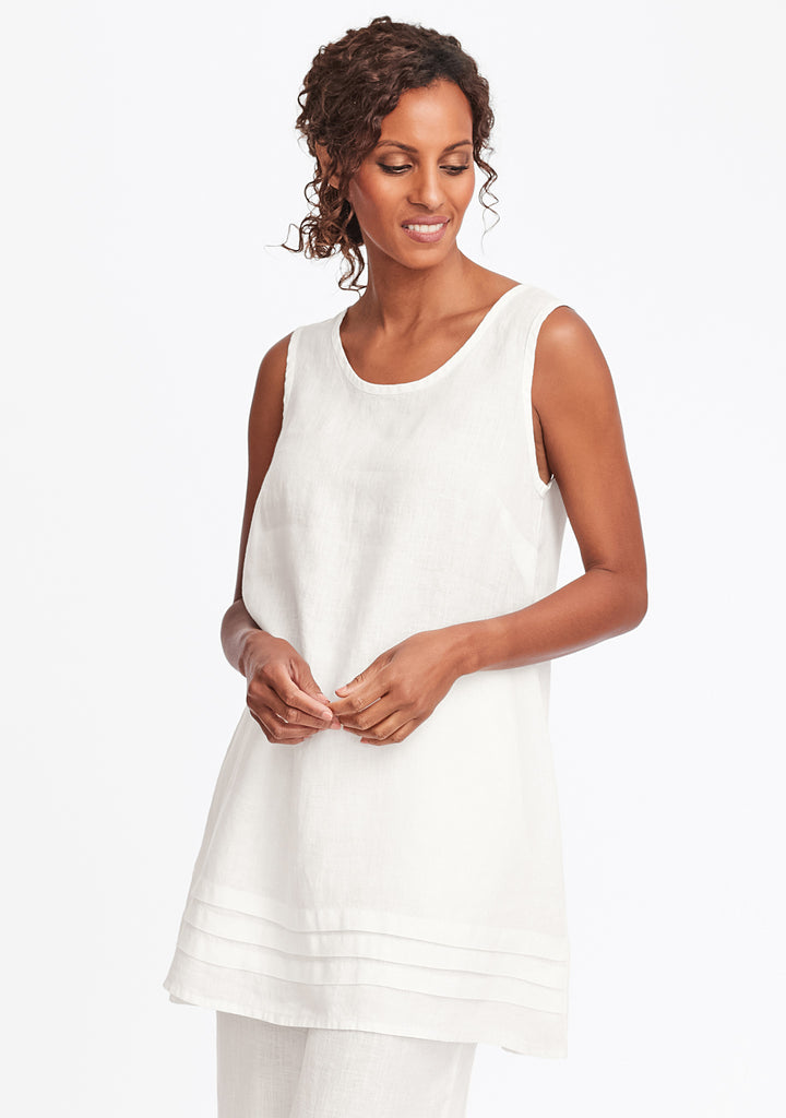 tuck tunic white