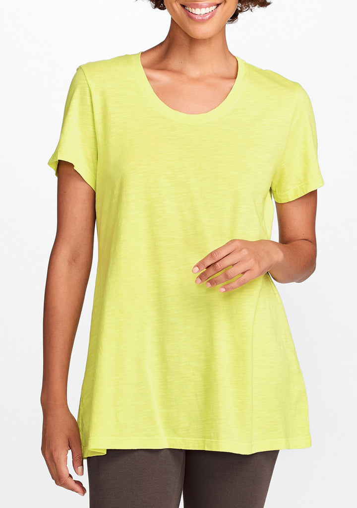 tunic tee yellow